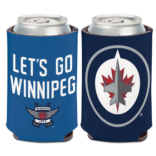 Winnipeg Jets Can Cooler Slogan Design Special Order