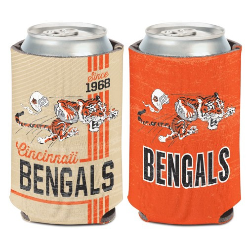 Cincinnati Bengals Can Cooler Vintage Design Special Order
