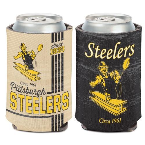 Pittsburgh Steelers Can Cooler Vintage Design Special Order