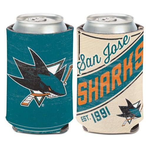 San Jose Sharks Can Cooler Vintage Design Special Order