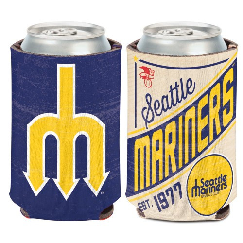 Seattle Mariners Can Cooler Vintage Design Special Order