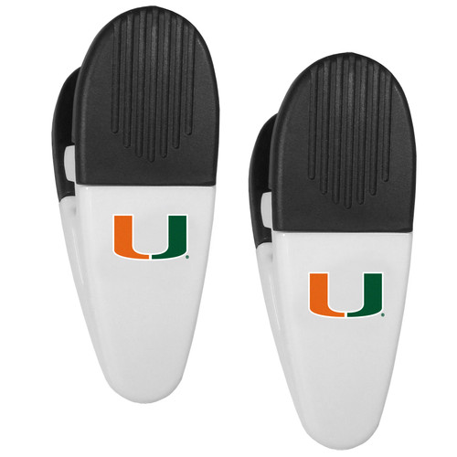 Miami Hurricanes Chip Clips 2 Pack Special Order