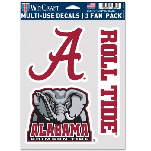 Alabama Crimson Tide Decal Multi Use Fan 3 Pack Special Order