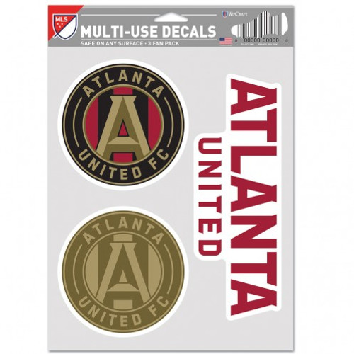 Atlanta United FC Decal Multi Use Fan 3 Pack Special Order