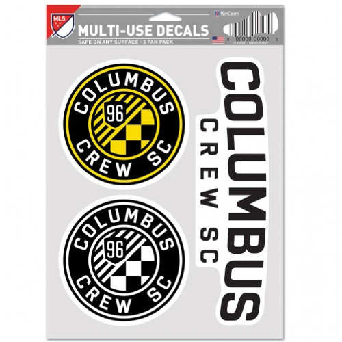Columbus Crew SC Decal Multi Use Fan 3 Pack Special Order