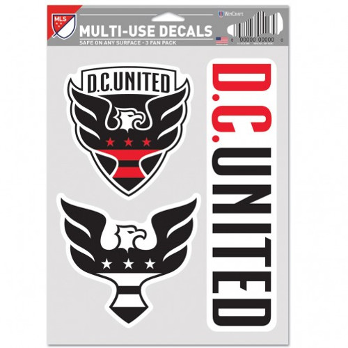 DC United Decal Multi Use Fan 3 Pack Special Order
