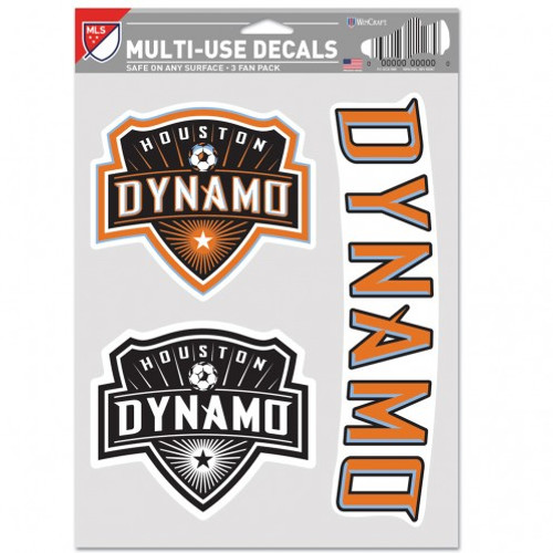 Houston Dynamo Decal Multi Use Fan 3 Pack Special Order