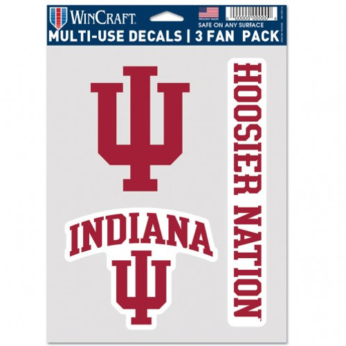 Indiana Hoosiers Decal Multi Use Fan 3 Pack Special Order