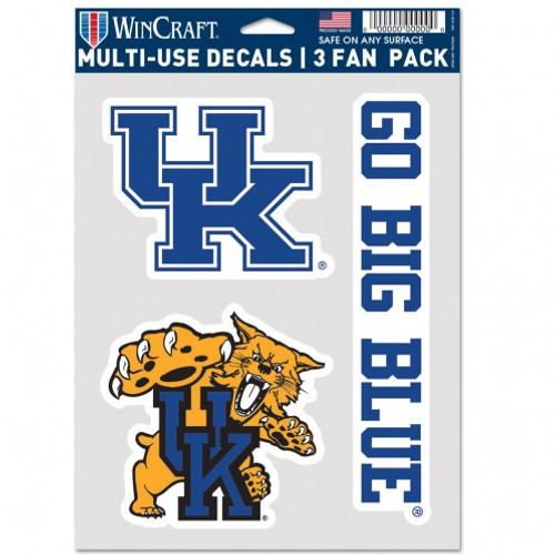 Kentucky Wildcats Decal Multi Use Fan 3 Pack Special Order