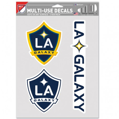 Los Angeles Galaxy Decal Multi Use Fan 3 Pack Special Order