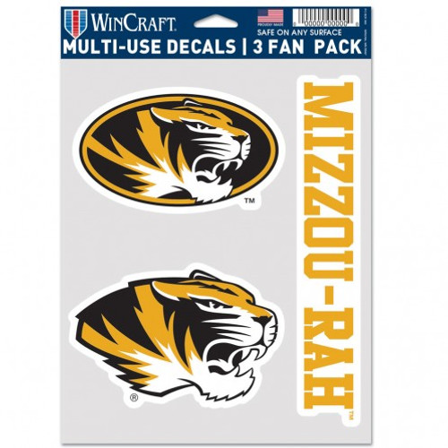 Missouri Tigers Decal Multi Use Fan 3 Pack Special Order