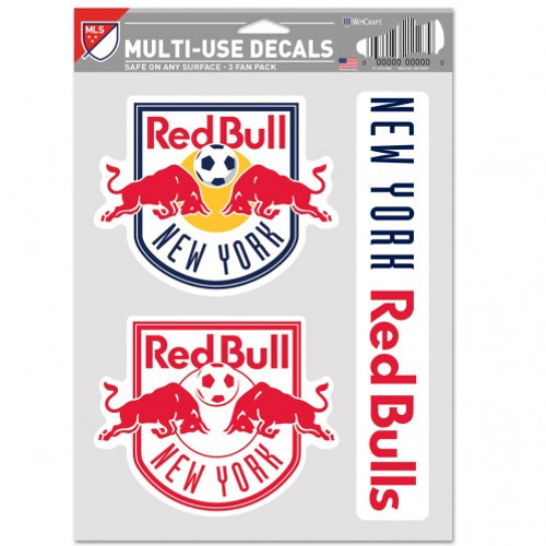 New York Red Bulls Decal Multi Use Fan 3 Pack Special Order