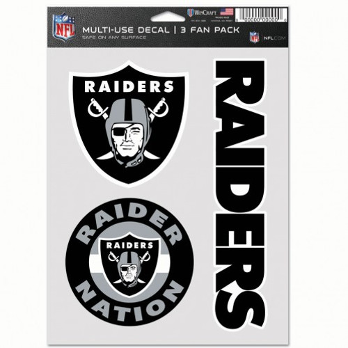 Las Vegas Raiders Decal Multi Use Fan 3 Pack