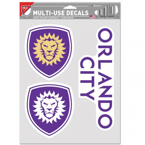 Orlando City SC Decal Multi Use Fan 3 Pack Special Order