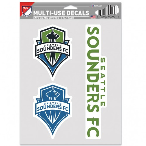 Seattle Sounders FC Decal Multi Use Fan 3 Pack Special Order