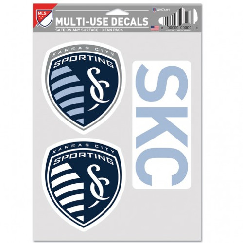 Sporting Kansas City Decal Multi Use Fan 3 Pack Special Order