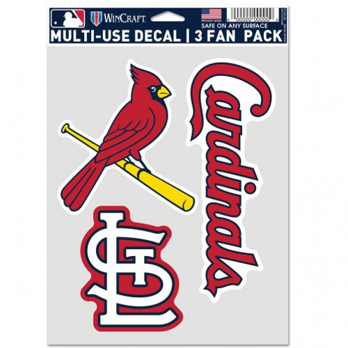 St. Louis Cardinals Decal Multi Use Fan 3 Pack