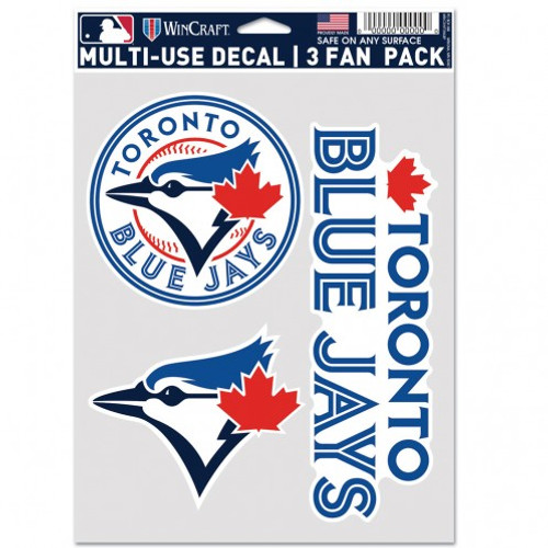 Toronto Blue Jays Decal Multi Use Fan 3 Pack Special Order