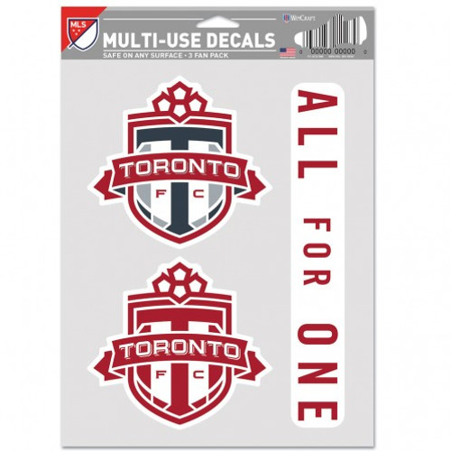 Toronto FC Decal Multi Use Fan 3 Pack Special Order