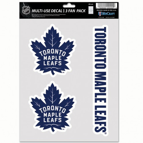 Toronto Maple Leafs Decal Multi Use Fan 3 Pack Special Order
