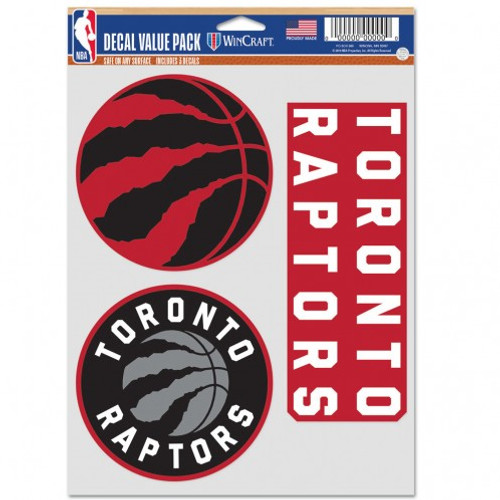 Toronto Raptors Decal Multi Use Fan 3 Pack Special Order