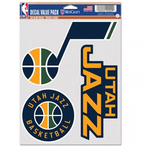 Utah Jazz Decal Multi Use Fan 3 Pack Special Order