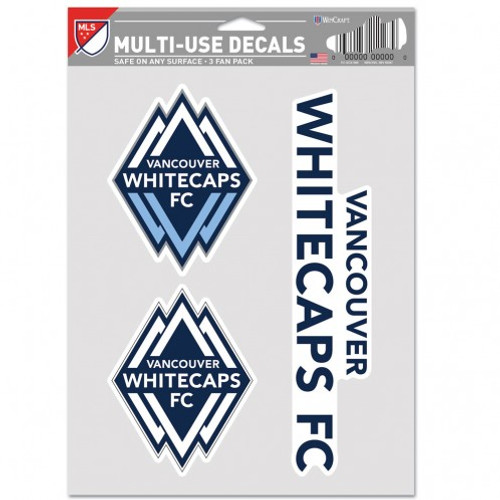 Vancounver Whitecaps Decal Multi Use Fan 3 Pack Special Order