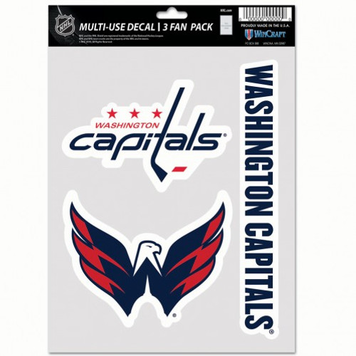 Washington Capitals Decal Multi Use Fan 3 Pack