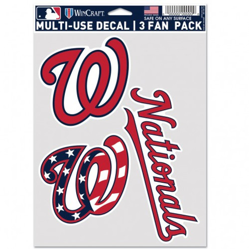 Washington Nationals Decal Multi Use Fan 3 Pack Special Order