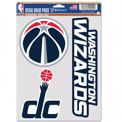 Washington Wizards Decal Multi Use Fan 3 Pack Special Order