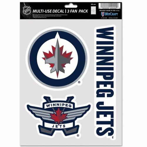 Winnipeg Jets Decal Multi Use Fan 3 Pack Special Order