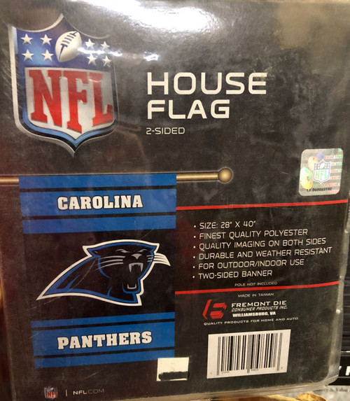 Carolina Panthers Banner 28x40 House Flag Style 2 Sided Special Order