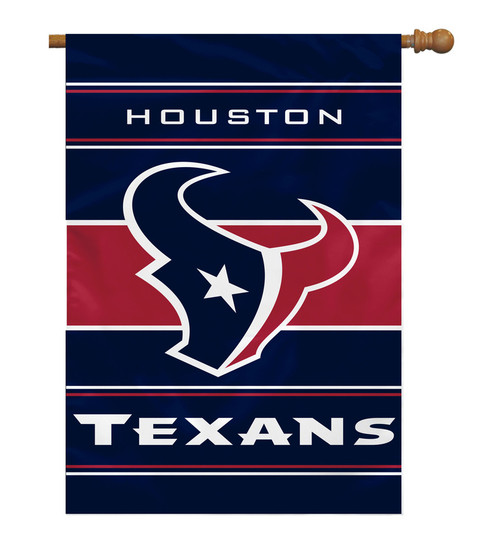 Houston Texans Banner 28x40 House Flag Style 2 Sided Special Order