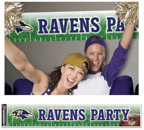 Baltimore Ravens Banner 12x65 Party Style