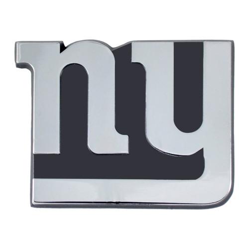 New York Giants Auto Emblem Premium Metal Chrome