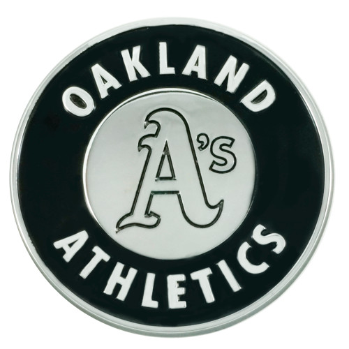 Oakland Athletics Auto Emblem Premium Metal Chrome Special Order