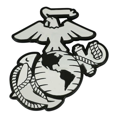 US Marines Auto Emblem Premium Metal Chrome Special Order