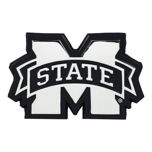 Mississippi State Bulldogs Auto Emblem Premium Metal Chrome Special Order