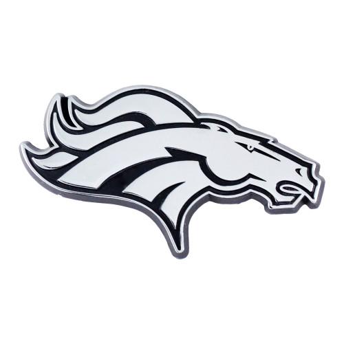 Denver Broncos Auto Emblem Premium Metal Chrome
