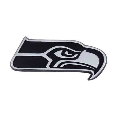 Seattle Seahawks Auto Emblem Premium Metal Chrome