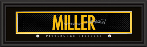 Pittsburgh Steelers Print 8x24 Signature Style Heath Miller