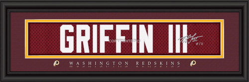 Washington Redskins Print 8x24 Signature Style Robert Griffin III