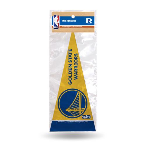 Golden State Warriors Pennant Set Mini 8 Piece Alternate Design