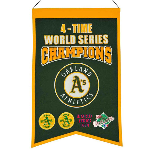 Oakland Athletics Banner 14x22 Wool Championship