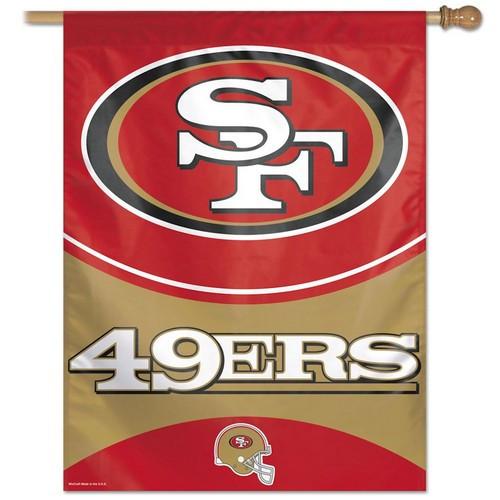 San Francisco 49ers Banner 27x37 Vertical Helmet Design