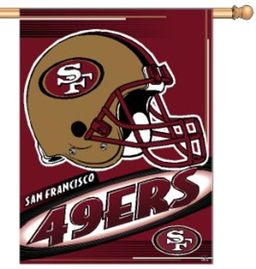 San Francisco 49ers Banner 27x37 Vertical Logo Design