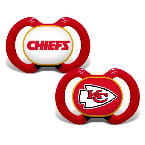Kansas City Chiefs Pacifier 2 Pack Alternate