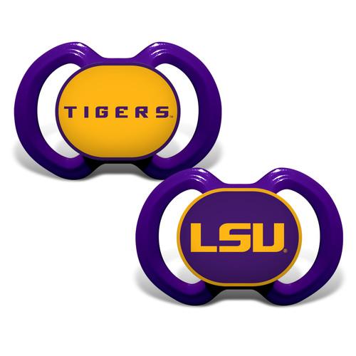 LSU Tigers Pacifier 2 Pack Alternate