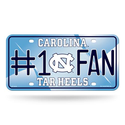 North Carolina Tar Heels License Plate #1 Fan