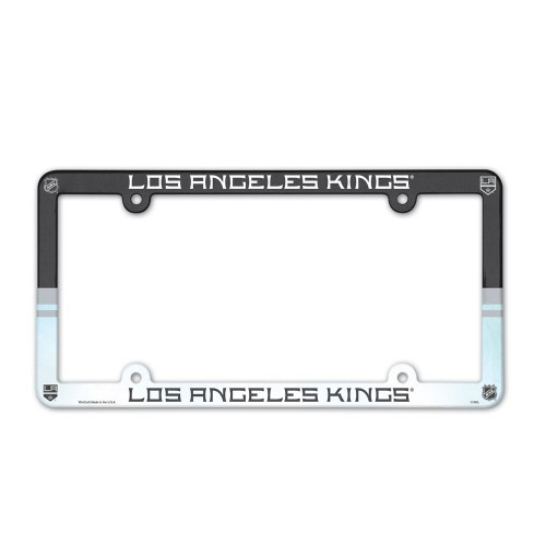 Los Angeles Kings License Plate Frame Plastic Full Color Style